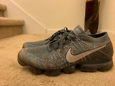 NIKE AIR VAPORMAX FLYKNIT MULTICOLOR DARK GREY REFLECT SILVER 849558 019 sz 11