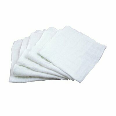 green sprouts Muslin Face Cloths Made from Organic Cotton (5 Pack)| Gently Clean