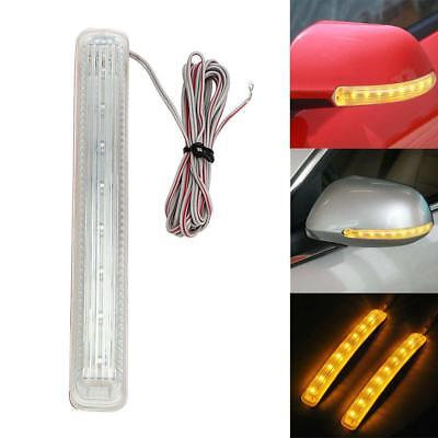 Universal 12V 9 LED Car Auto Amber Side Door Mirror Soft Turn Signal Light #q