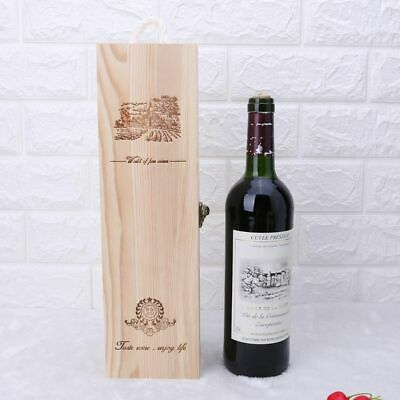 Empty Single Bottle Wood Wine Case Crate Wine Box Carrier Container Gift Decor