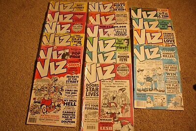 16 Vintage Viz Comics Various Issues Ranging From No's 34-54