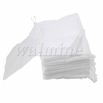 Empty Disposable Filter Paper Herb Loose Tea Bags String Heat Seal Pack of 100