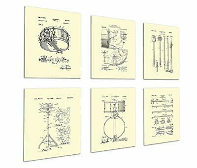 Gnosis Picture Archive Drum Posters Set of 6 Unframed Patent Art Gift for Drumme