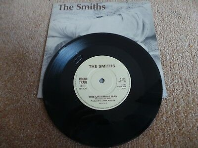 """THE SMITHS - This Charming Man(UK 1983 7"""" VINYL SINGLE / SOLID CENTRE / EX+!!)"""