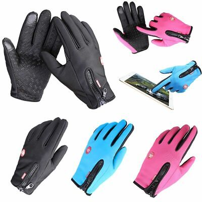 Women Men Sports Warm Thermal Windproof Ski Snow Motorcycle Snowboard Gloves