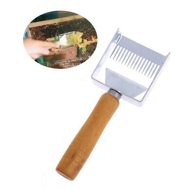 Stainless Steel Bee Hive Uncapping Honey Fork Scraper Shovel Beekeeping ToolDR