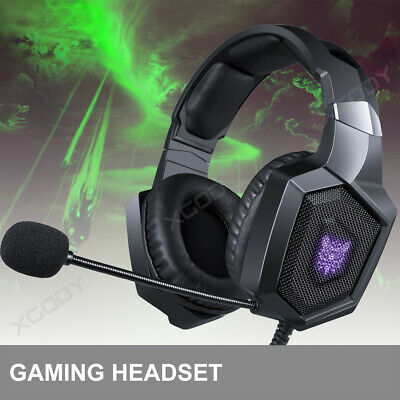 Onikuma for PS4 Xbox One X/S PC Kopfhörer Gaming Headset K8 Stereo Mic LED 3.5mm