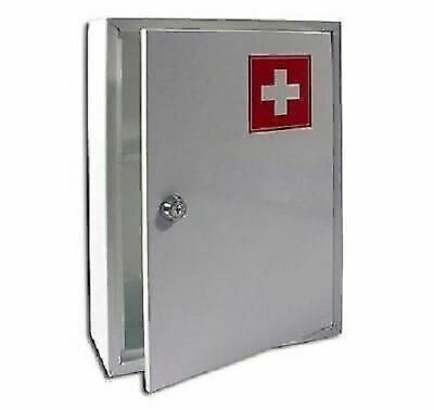 New White Medical Cabinet First Aid Box Home Medicine Kit Wall Mounted Tablet