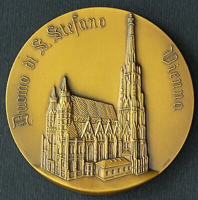ITALY Medal 1968 - Bronze - Cathedral of Saint Stefano Vienna - 26