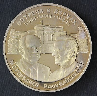 RUSSIA Medal 1989 - The Summit in Bonn Gorbachev and Weizsäcke - 56