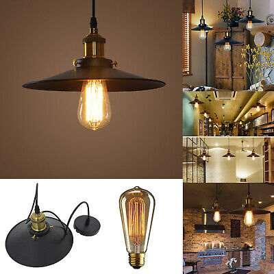 Vintage Industrial Light Shade Ceiling Metal Iron E27 Retro Lamp Holder Pendant