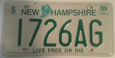 """New Hampshire Farm Plate# 1726AG """"Old Man in the Mountain / Live Free or Die"""""""