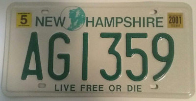 """New Hampshire Farm Plate# AGI359 """"Old Man in the Mountain / Live Free or Die"""""""