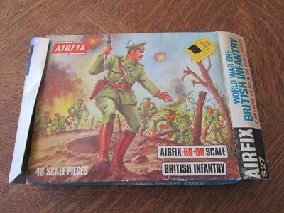 """Boite Vide Airfix """"British Infantry"""" S27---HO-OO scale/ Empty Box Vintage 1960s"""