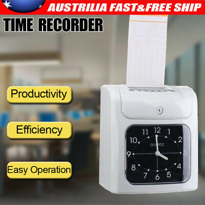 Electronic Employee Time Attendance Time Clock Recorder Bundy+ 50 Pics