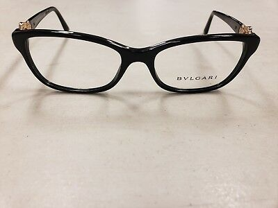 3953528396  277 NEW BVLGARI BV4131-B 501 RX Prescription Eyeglasses Frames 54mm Black  Italy -  79.99