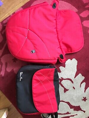 Silver cross Wayfarer Red Apron and Bag with changing mat