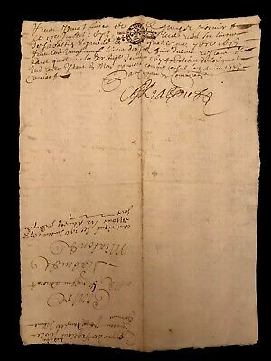 1678 Autographed and Handwritten Document