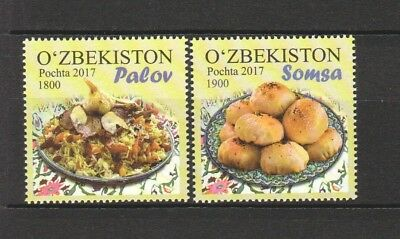 Uzbekistan 2017 National Cuisine Comp. Set Of 2 Stamps Mint Mnh Unused Condition
