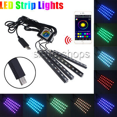 RGB LED Strip for Home Deco, Car Interior, Cabinets, Boat Atmosphere Neon Light