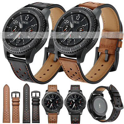 Genuine Leather Watch Band Strap Belt For Samsung Galaxy Watch 42mm 46mm Gear S3