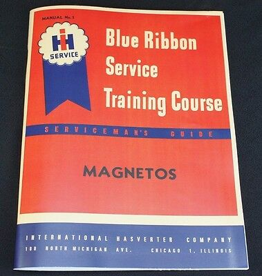 IH ONLY FARMALL Magneto Service Manual Blue Ribbon Service Manual H4 A B C  H M