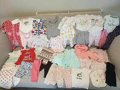 LARGE Baby Girl's NEXT, TU, Mothercare, M&S Clothes Bundle Size 0 - 3 Months