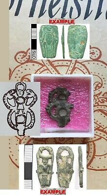VIKING LEAD PENDANT(GOD ODIN with HORNS,SNAKES)found in RIBE-DENMARK-800 A.D.