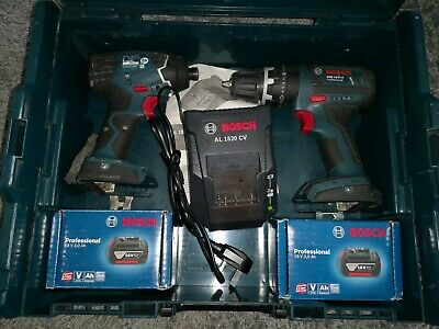 Bosch Twin Pack 18V Drill Driver & Impact Driver. 2×Brand New 3Ah Batteries