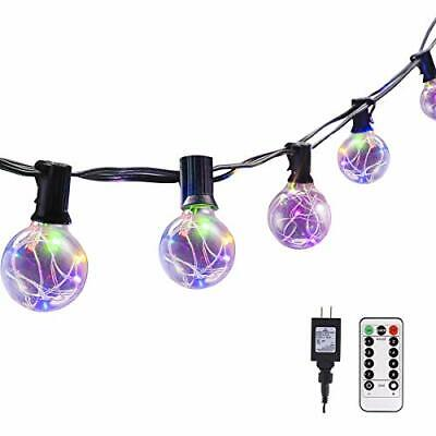 G40 Dimmable Globe String Lights Remote, 30LED Bulbs 32.8ft Indoor/Outdoor Strin