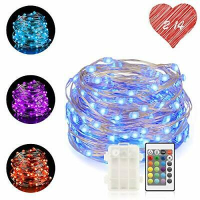 Chalpr LED Fairy Lights Battery Operated, 16.4 ft 50LEDs Multi Color Changing St