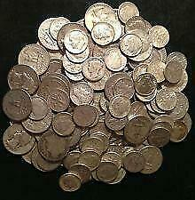$35.00 US Face Value 90% Silver Coins 1964 and Older Mixed Dimes Quarters Halves