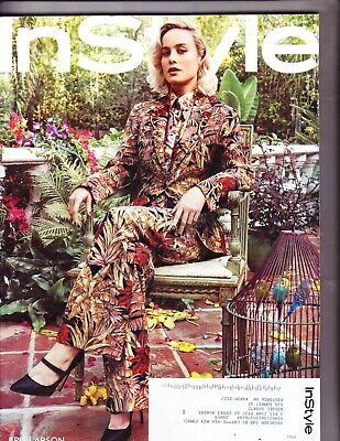 In Style Magazine---Brie Larson Cover-------March 2019