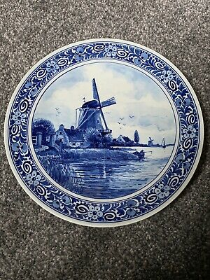 royal delft pottery Windmill Blue And White