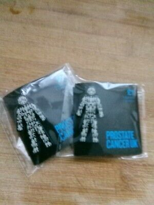 2 X BRAND NEW Prostate Cancer UK (you get TWO!) - Men United - Pin Badge Sealed