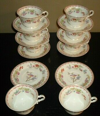 (8) Syracuse China Old Ivory BOMBAY Cups & Saucers