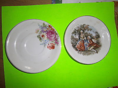 TWO Made in occupied Japan Saucer Plate Dinnerware