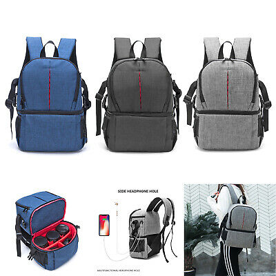 DSLR Photo Camera Waterproof Oxford Fabric Shoulders Backpack SLR Case Bags