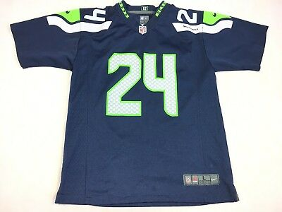 Nike On Field Seattle Seahawks Marshawn Lynch  24 Jersey Youth Size Large bf26e6e8b