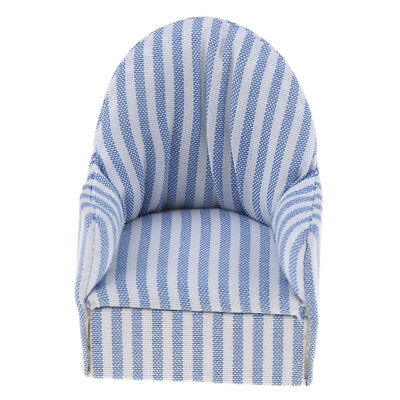 1:12 dollhouse miniature furniture stripe sofa chair for bed room living roomDR