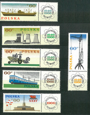 Poland 1966 : State industry   // 6 stamps