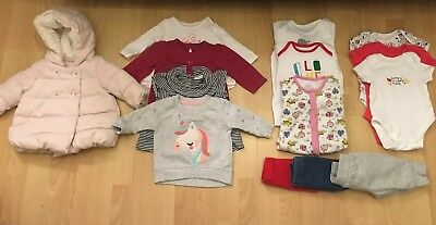 Baby Girl 0-3 Months Winter/Spring 14 Bundle Next, Mothercare, Unicorns,Cute🎀🦄