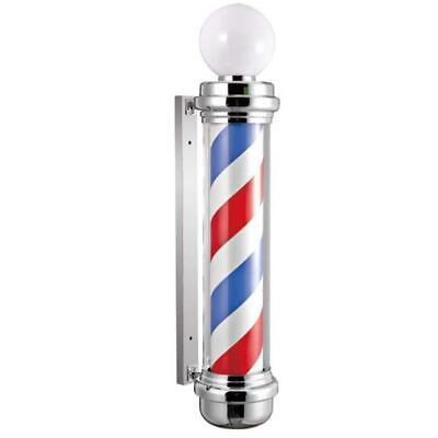 "Barber Shop 34.5"" Rotating LED Stripes Pole Light Hair Salon Sign Red White Blue"