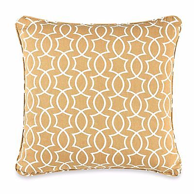 """Keyhole Print Square Throw Pillow in Yellow 20"""" X 20"""""""