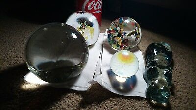Job Lot Of 5 Paperweights in Excellent Condition, Caithness, Selkirk etc