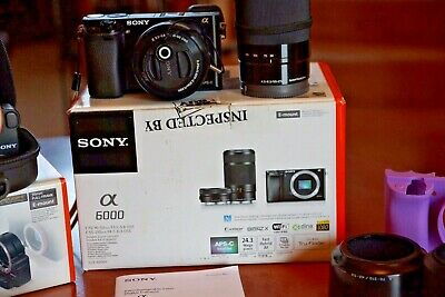 Sony Alpha A6000 24.3MP Digital Camera - with 16-50mm & 55-210mm & 70-210mm
