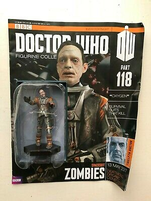 Bbc Dr Doctor Who Figurine Issue 118 Zombies Spacesuit Eaglemoss + Magazine