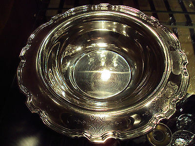 "Tiffany & Co.Sterling Silver Chippendale Rim 12"" Centerpiece Bowl /25 Troy Oz"