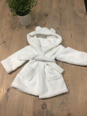 Stunning Little White Company White Dressing Gown 0-6 Months