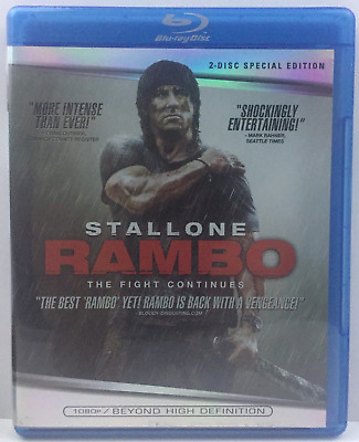 Rambo (Blu-ray Disc, 2008, 2-Disc Set, Special Edition) Sylvester Stallone